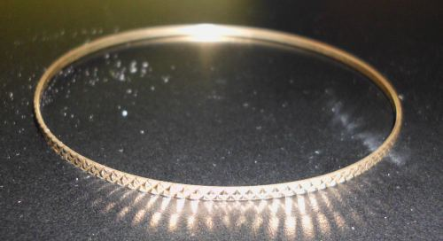Thin 10k Gold Bangle