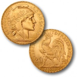 French Rooster Gold Coin