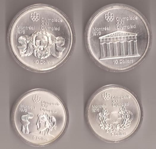 1976 Montreal Olympic Silver Coins