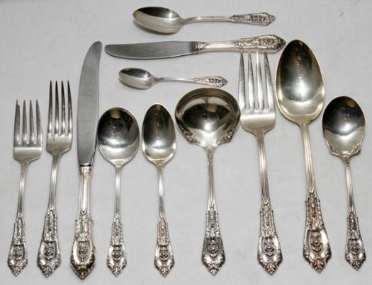 Rose Point Sterling Silverware Place Settings