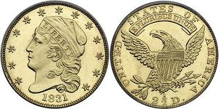 US Quarter Eagle Gold Coin
