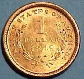 1849 US Dollar Gold Coin