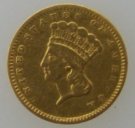 1856 US One Dollar Coin
