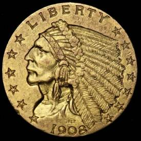 1908 Indian Head Quarter Eagle