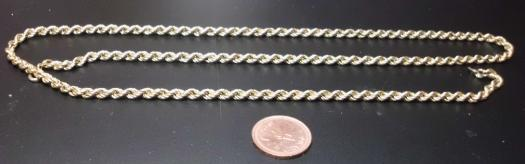 9k Rope Style Chain
